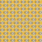 Pixel Röschen Nahtloses Vektor Muster