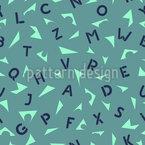Buchstaben Papierschnipsel Rapportiertes Design