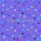 Eighties Kid Seamless Vector Pattern Design