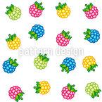 Ripe Raspberries Seamless Pattern