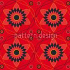 ビザンツの花 シームレスなベクトルパターン設計