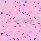 80s Kid Seamless Vector Pattern Design