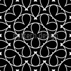 With Round Shapes Seamless Vector Pattern Design