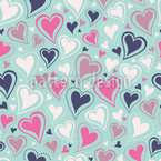 Endless Lovely Hearts Seamless Vector Pattern Design