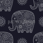 Reich verzierte Elefanten Rapport