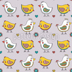 Lovely Chick Seamless Vector Pattern Design