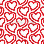 Herzen In Linien Musterdesign