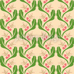 Tendrils With Pink Vector Pattern