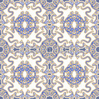Exotic Porcelain Seamless Vector Pattern Design
