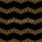 Königliche Wellen Bordüren Vektor Muster