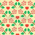 Herzen Und Rosen Rapportmuster