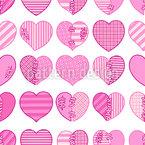 Apaixonado por um destruidor de corações Design de padrão vetorial sem costura