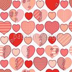Geflickte Herzen Vektor Muster