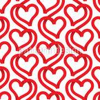 Bänder Herzen Rapportmuster