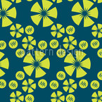 Limo Blau Muster Design