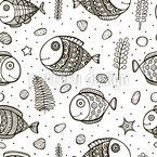 Illustrierte Fische Vektor Design
