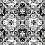 Rhombus patchworked Design de padrão vetorial sem costura
