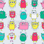 Friendly Monsters Repeat Pattern