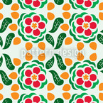 Polka Floral Seamless Vector Pattern Design