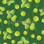 Gooseberries Seamless Vector Pattern Design