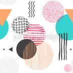 Strukturierte Formen Vektor Muster