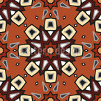 Star Flower Circles Seamless Vector Pattern Design