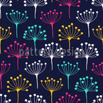 Dill Silhouettes Seamless Pattern