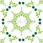 Circled Spring Vector Pattern