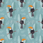 Cute Toucan Parrots Vector Design