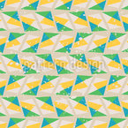 Triangles and Polka Dots Seamless Vector Pattern Design