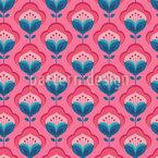Retro Fantasy Flowers Seamless Pattern