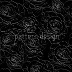 White Roses Seamless Vector Pattern Design