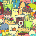 Cute Fast Food Repeating Pattern