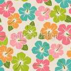 Hibiscus Power Seamless Vector Pattern Design