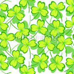 Lucky Shamrock Seamless Vector Pattern