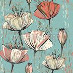 Vintage Blumenwelt Nahtloses Vektormuster