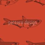 Abstrakter Fisch  Nahtloses Vektormuster