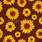 Sunny Sunflowers Seamless Vector Pattern Design