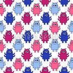 Fluffy Cuddly Monsters Vector Design