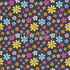 Sommerlicher Blumenregen Nahtloses Vektormuster