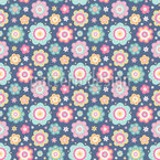 Flat Flowers Pattern Design