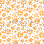 Kaktusblüten Nahtloses Vektormuster