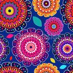 Symmetrisches Glück Nahtloses Vektormuster