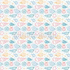 Silent Fish World Seamless Vector Pattern Design