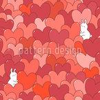 Verliebtes Kaninchen Vektor Design