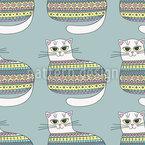 Katzenpulli Nahtloses Vektormuster