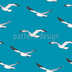 Seagull flight Seamless Vector Pattern Design