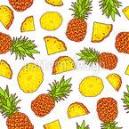 Sonnige Ananas Designmuster