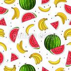 Frucht-Mix Nahtloses Vektor Muster