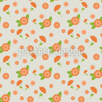 Circle Blossoms Repeating Pattern